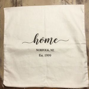 18 inch x 18 inch Farmhouse personalized pillow!